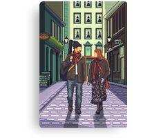 Once a pixelart Canvas Print
