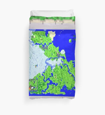 Mining Map Twin Size Duvet  Duvet Cover