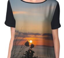 beautiful orange sunset over loop head Chiffon Top