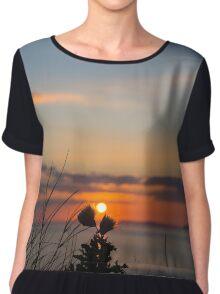 beautiful orange sunset over loop head Chiffon Top