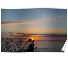 beautiful orange sunset over loop head Poster