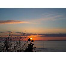 beautiful orange sunset over loop head Photographic Print