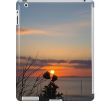 beautiful orange sunset over loop head iPad Case/Skin
