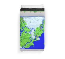 Mining Map King Size Duvet  Duvet Cover