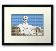 Lincoln memorial - Blue Framed Print