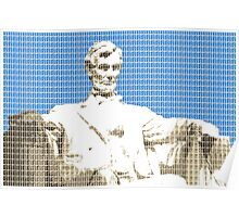 Lincoln memorial - Blue Poster