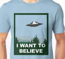 I Want To Believe Poster Unisex T-Shirt