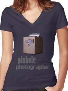 Pinhole photographer Women's Fitted V-Neck T-Shirt