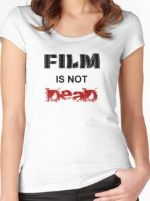 Film is not dead Women's Fitted Scoop T-Shirt