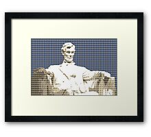 Lincoln Memorial - Dark Blue Framed Print