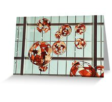 Colored Glass Balloons On Ceiling Greeting Card