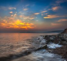 Sunset At Hanover Point by manateevoyager