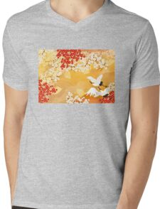 Beautiful kimono of Japan Mens V-Neck T-Shirt