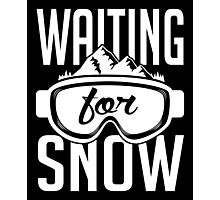 Skiing: Waiting for snow Photographic Print