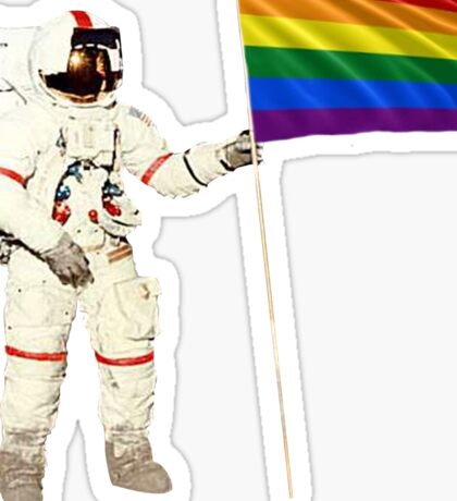 Moon Landing Pride Sticker