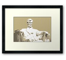 Lincoln memorial - Gold Framed Print
