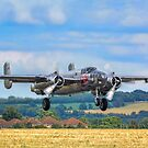 B-25J Mitchell 44-86893A N6123C taking off by Colin Smedley