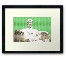 Lincoln memorial - Green Framed Print