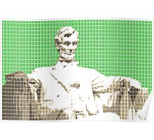 Lincoln memorial - Green Poster