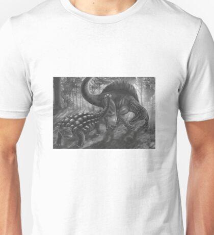 ankylo vs spinosaur Unisex T-Shirt
