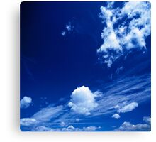 Cloudy Blue Canvas Print