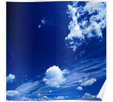 Cloudy Blue Poster