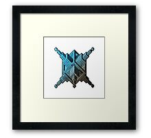 Dimension piercer. Framed Print
