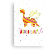 Fabulousaurus Canvas Print