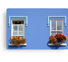 Window decorations in Dingle - Ireland Canvas Print