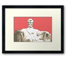 Lincoln Memorial - Red Framed Print