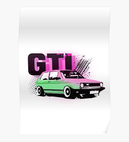 Golf 1, GTI Poster
