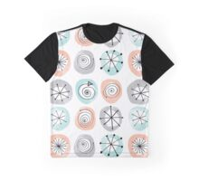 Retro Circle Pattern Graphic T-Shirt