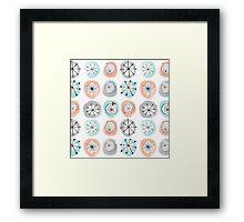 Retro Circle Pattern Framed Print