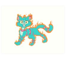 Sparkslice the Demon Cat Art Print