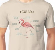 Anatomy of a Flamingo Unisex T-Shirt