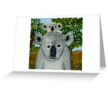 Koalas, Australia.   Greeting Card