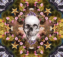 Floral abstract rennaisance collage with a skull by mikath