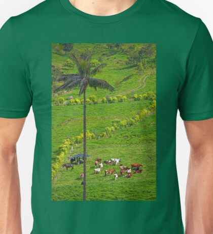Columbia. Cocora Valley. Cows. Unisex T-Shirt