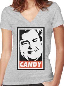John Candy Women's Fitted V-Neck T-Shirt