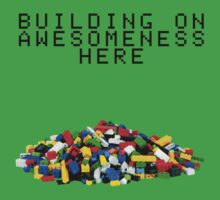 Building on Awesomeness  Kids Tee