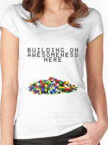 Building on Awesomeness  Women's Fitted Scoop T-Shirt