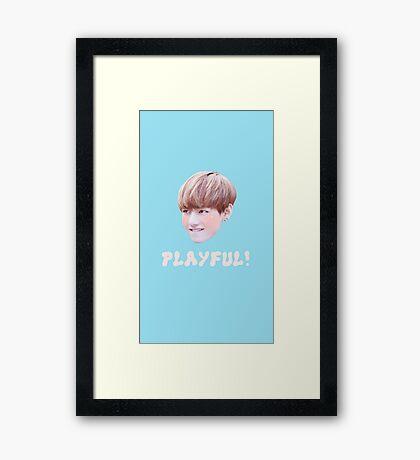 TAEHYUNG - PLAYFUL Framed Print