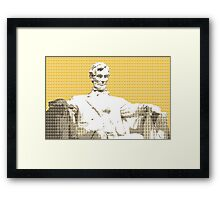 Lincoln Memorial - Yellow Framed Print