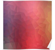 Pattern Red Purple Cool Poster
