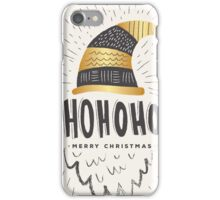 Golden Merry Christmas Typography #trending #mugs #cards iPhone Case/Skin