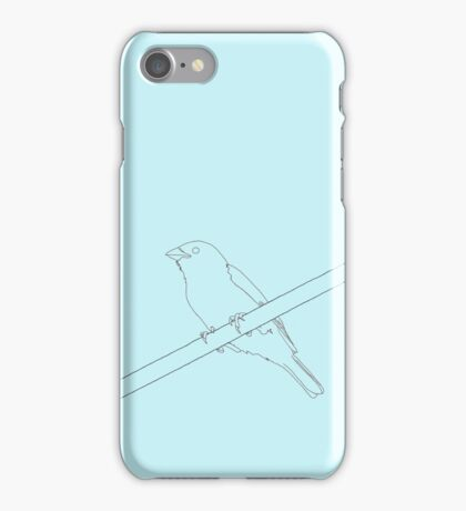 Sparrow on a wire iPhone Case/Skin