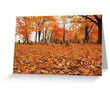 Autumn Cemetary Greeting Card