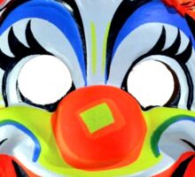Classic halloween mask CLOWN Sticker