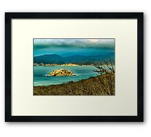 Landscape Scene at Machalilla National Park Ecuador Framed Print