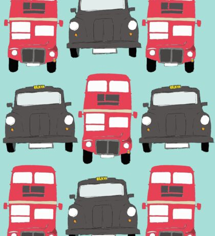 Black Cabs and Red Buses Sticker